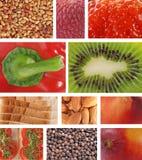 L'alimento struttura il collage Immagini Stock Libere da Diritti