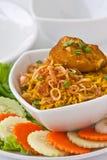 L'alimento tailandese moderno, riso dello zafferano con chiken Immagine Stock