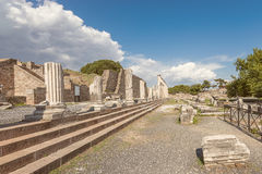 L'allée des colums, Pergamos Photographie stock libre de droits