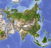 l'allégement de carte de l'Asie a ombragé illustration stock