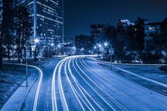 L.A. alla notte Immagine Stock