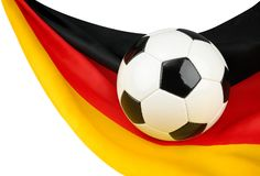 l'Allemagne aime le football Photo libre de droits