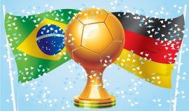 L'Allemagne Brésil Photo libre de droits