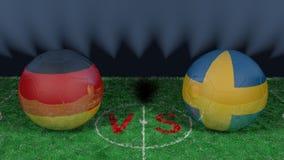 L'Allemagne contre la Suède Coupe du monde 2018 de la FIFA Image 3D originale Images libres de droits