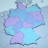 L'Allemagne 3D Photographie stock