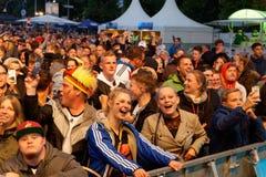 L'Allemagne de visionnement publique contre la Suède à la semaine 2018, Kiel, Allemagne de Kieler images libres de droits