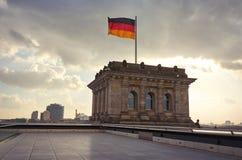 l'allemagne Drapeau allemand à Berlin 16 février 2018 image stock