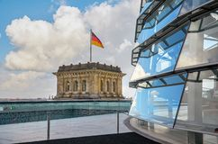 l'allemagne Drapeau allemand à Berlin 16 février 2018 images stock