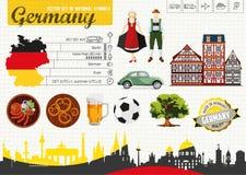 L'Allemagne du guide de voyage Images libres de droits