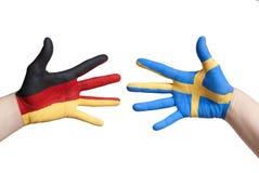 L'Allemagne et la Suède image stock