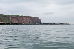l'Allemagne - la côte de Helgoland Photographie stock