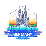 L'Allemagne - ligne moderne illustration de vecteur de voyage illustration de vecteur