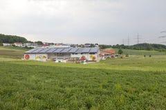 L'ALLEMAGNE - 30 mai 2012 : cultivez sur la culture des légumes et du fruit dans le domaine vert dans les zones rurales Photo libre de droits