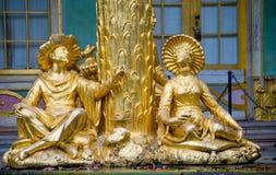 L'ALLEMAGNE, POTSDAM - 10 NOVEMBRE 2017 - Schloss Sanssouci, détail de la maison chinoise photos stock