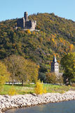 L'Allemagne, Rhénanie, vue de château de maus de burg photos libres de droits