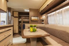 int rieur d 39 un camping car moderne photo ditorial image. Black Bedroom Furniture Sets. Home Design Ideas