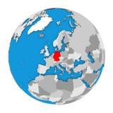 L'Allemagne sur le globe Photo stock