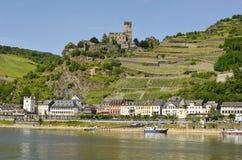 L'Allemagne, vallée du Rhin photo libre de droits