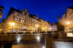 L'Allemagne wetzlar historique le soir Photographie stock libre de droits