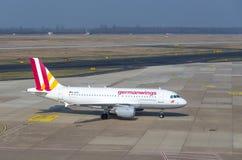 l'Allemand s'envole Airbus A319 Photographie stock libre de droits