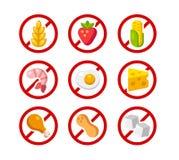 L'allergene libera le icone royalty illustrazione gratis