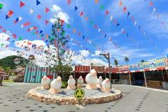 L'allevamento di pecore svizzero in cui è il più grande stile del parco di divertimento e dell'allevamento di pecore a Pattaya Fotografie Stock