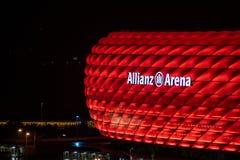 L'Allianz Arena dello stadio di calcio - nell'arena inglese di alleanza a Monaco di Baviera del FC Bayern Monaco del gruppo alla  fotografia stock