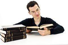 L'allievo giovane con i libri Immagine Stock