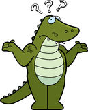 L'alligator s'est confondu Photos stock