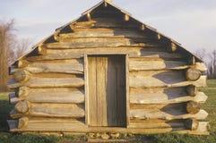 L'alloggio militare per i soldati conduce da George Washington durante la Guerra di indipendenza americana alla forgia della vall Fotografia Stock