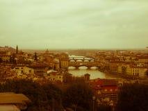L'allora Firenze/il était une fois à Florence Image libre de droits