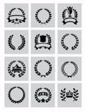 L'alloro avvolge l'icona royalty illustrazione gratis