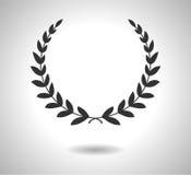 L'alloro avvolge l'icona di vettore Segno di gloria isolato su bianco ENV Fotografia Stock Libera da Diritti