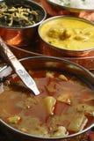 L'alluminio di Khatta è un curry della patata dal Gujarat Fotografia Stock