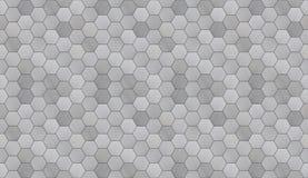 L'alluminio esagonale futuristico ha piastrellato la struttura senza cuciture Immagini Stock