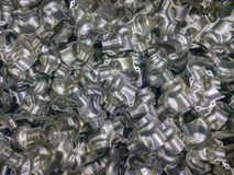 L'alluminio formato brillante parte il fondo Fotografia Stock Libera da Diritti