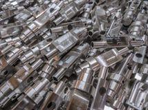 L'alluminio parte il fondo Immagini Stock