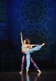 """L'allungamento dei fiori blu -  di Nights†dei """"One mille ed uno di balletto Fotografie Stock"""