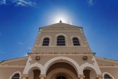 L'alone del sole sulla cattedrale cattolica della c immacolata Fotografia Stock Libera da Diritti