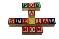 l'alpabet bloque des mères de jour spéciales Photographie stock libre de droits