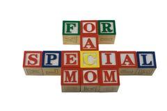 l'alpabet bloque des mères de jour spéciales Photographie stock