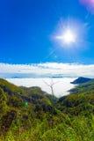 L'alpeggio di Haputale sopra il mare si appanna la valle V Fotografie Stock