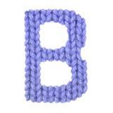 L'alphabet anglais de la lettre B, colorent bleu-foncé Image stock
