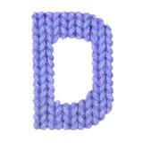 L'alphabet anglais de la lettre D, colorent bleu-foncé Photographie stock libre de droits