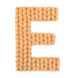L'alphabet anglais de la lettre E, colorent l'orange Photos libres de droits