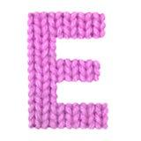 L'alphabet anglais de la lettre E, colorent le rose Photos stock