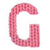 L'alphabet anglais de la lettre G, colorent le rouge Images stock