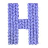 L'alphabet anglais de la lettre H, colorent bleu-foncé Image stock