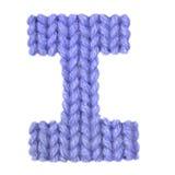 L'alphabet anglais de la lettre I, colorent bleu-foncé Photographie stock