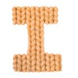 L'alphabet anglais de la lettre I, colorent l'orange Images stock